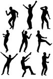 Collection of dancing young men Stock Images