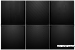 Collection of dark carbon striped textures. Black abstract backgrounds. Collection of dark carbon striped textures. Black abstract industrial backgrounds stock illustration