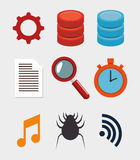 collection data server hosting elements Stock Photo