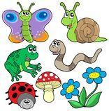collection de 2 animaux petite illustration stock