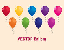 Collection de ballons colorés de vecteur Images stock