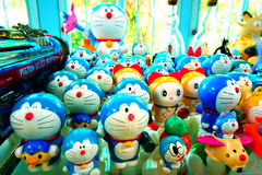 Collection de bande dessinée de Doraemon à million de musée de jouet Images stock