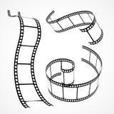 collection de bande de film du vecteur 3d Photographie stock libre de droits