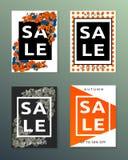 Collection de bannières d'automne de vente image stock