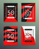 Collection de bannières d'automne de vente photos libres de droits