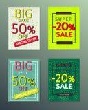 Collection de bannières d'automne de vente photos stock