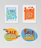 Collection de bannières d'automne de vente images stock