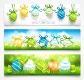 Collection de bannières de Pâques Image libre de droits