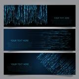 Collection de bannières de techno Image libre de droits