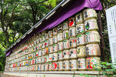 Collection de barils de saké Photographie stock libre de droits
