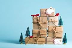 Collection de boîtes de cadeau de Noël Photo libre de droits