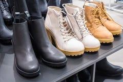 Collection de bottes de femmes photo libre de droits