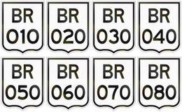 Collection de boucliers de route des routes fédérales brésiliennes illustration libre de droits