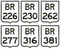 Collection de boucliers de route des routes fédérales brésiliennes illustration de vecteur