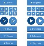 Collection de bouton de Web Photos libres de droits