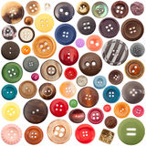Collection de boutons Photo stock