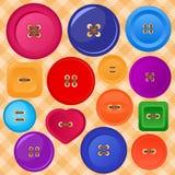 Collection de boutons colorés de vecteur Image libre de droits