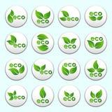 Collection de boutons d'eco de vecteur Photo libre de droits