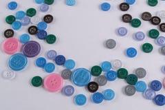 Collection de boutons de couture colorés Photo stock