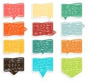 Collection de bulles crosshadged colorées extraordinaires de la parole Photo stock