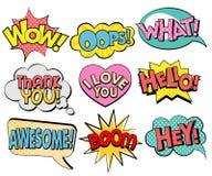 Collection de bulles de la parole dans le rétro style Images stock
