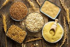 Collection de céréales image stock
