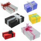 Collection de cadeau pour l'anniversaire et le Noël Photo stock