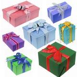 Collection de cadeau pour l'anniversaire et le Noël Photos stock