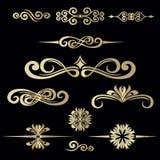 Collection de cadre tiré par la main de vintage pour la décoration des textes au VE Photo libre de droits