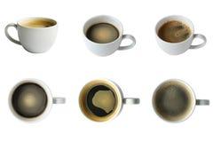 Collection de café dans tout angle avec le chemin de coupure Photographie stock libre de droits