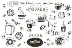 Collection de café, illustration tirée par la main Illustration de vecteur illustration libre de droits