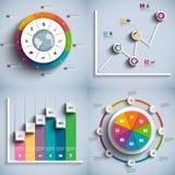 Collection de calibre infographic de conception de vecteur Photos libres de droits