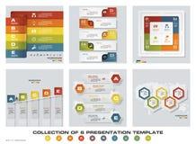 Collection de 6 calibres colorés de présentation de conception EPS10 Ensemble d'icônes de vecteur et d'affaires de conception d'i Photo stock