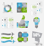 Collection de calibres d'Infographic pour des affaires Image stock