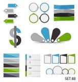 Collection de calibres d'Infographic pour des affaires Image stock