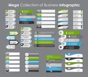 Collection de calibres d'Infographic pour des affaires illustration stock