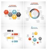 Collection de calibres d'Infographic pour des affaires Photo libre de droits