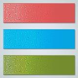 Collection de calibres de vecteur de bannières de style de circuit de Digital illustration stock