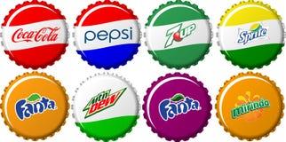 Collection de capsules de boisson non alcoolisée Photos libres de droits