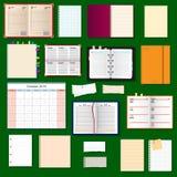 Collection de carnets de vecteur Photographie stock libre de droits