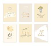 Collection de carte d'automne Photographie stock