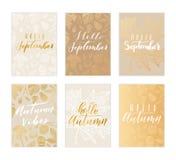 Collection de carte d'automne Photos libres de droits