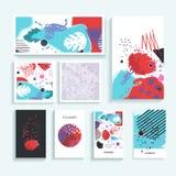 Collection de cartes à la mode universelles créatives Photo stock