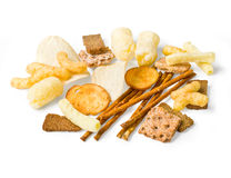 Collection de casse-croûte de nourriture, Images stock