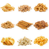 Collection de casse-croûte de nourriture industrielle Photographie stock libre de droits