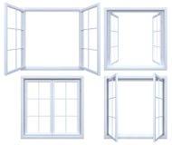 Collection de châssis de fenêtre d'isolement Images libres de droits