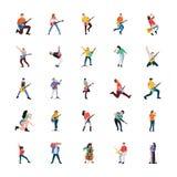 Collection de chanteur And Musician Characters illustration libre de droits