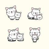 Collection de chat et de chat de bébé illustration de vecteur