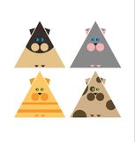 Collection de chat stylisée Photographie stock libre de droits