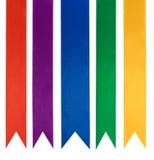 Collection de cinq rubans différents de couleur Photo libre de droits